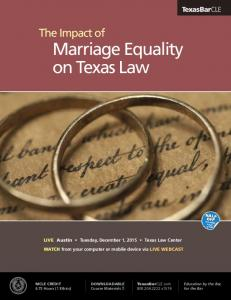 The Impact of Marriage Equality on Texas Law