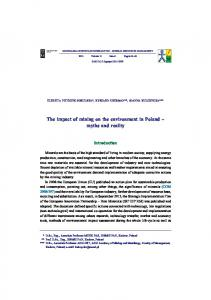 The impact of mining on the environment in Poland myths and reality