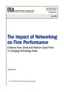 The Impact of Networking on Firm Performance