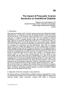 The Impact of Polycystic Ovarian Syndrome on Gestational Diabetes