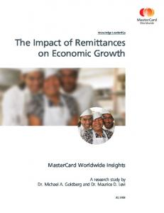 The Impact of Remittances on Economic Growth