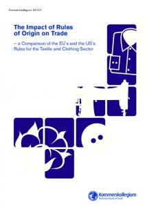 The Impact of Rules of Origin on Trade