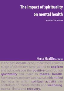 The impact of spirituality on mental health