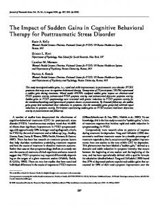 The Impact of Sudden Gains in Cognitive Behavioral Therapy for Posttraumatic Stress Disorder