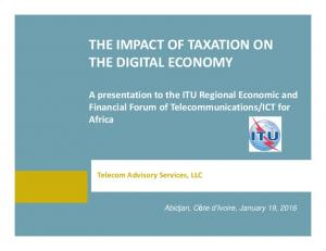 THE IMPACT OF TAXATION ON THE DIGITAL ECONOMY