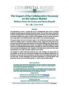 The Impact of the Collaborative Economy on the Labour Market