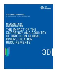 THE IMPACT OF THE CURRENCY AND COUNTRY OF ORIGIN ON GLOBAL