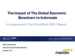 The Impact of The Global Economic Slowdown to Indonesia
