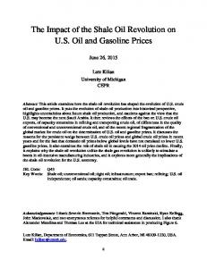 The Impact of the Shale Oil Revolution on U.S. Oil and Gasoline Prices