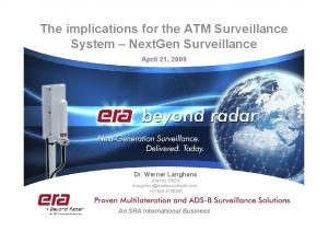 The implications for the ATM Surveillance System NextGen Surveillance