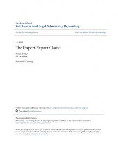 The Import-Export Clause