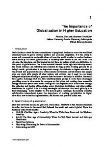 The Importance of Globalization in Higher Education