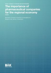 The importance of pharmaceutical companies for the regional economy