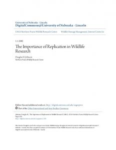 The Importance of Replication in Wildlife Research