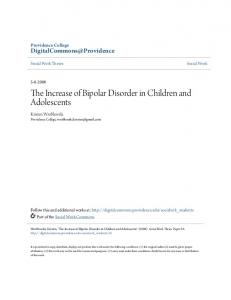 The Increase of Bipolar Disorder in Children and Adolescents
