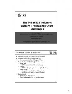 The Indian ICT Industry: Current Trends and Future Challenges