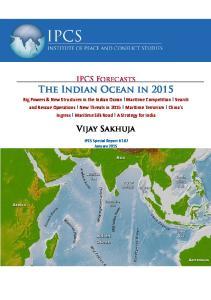 The Indian Ocean in 2015 Vijay Sakhuja