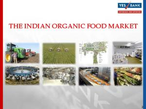 THE INDIAN ORGANIC FOOD MARKET