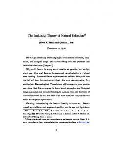 The Inductive Theory of Natural Selection