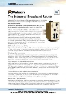 The Industrial Broadband Router