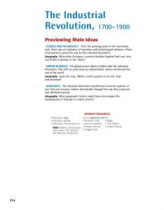 The Industrial Revolution,