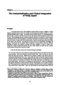 The Industrialization and Global Integration of Meiji Japan