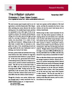 The inflation column November 2007