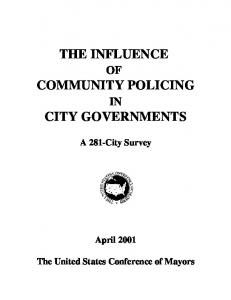 THE INFLUENCE COMMUNITY POLICING CITY GOVERNMENTS