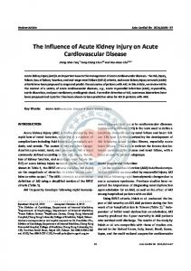The Influence of Acute Kidney Injury on Acute Cardiovascular Disease