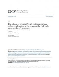 The influence of Lake Powell on the suspended sediment-phosphorus dynamics of the Colorado River inflow to Lake Mead