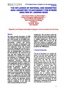 THE INFLUENCE OF MATERIAL AND GEOMETRIC NON-LINEARITIES TO ACCURANCY FEM STRESS ANALYSIS OF LANDING GEAR