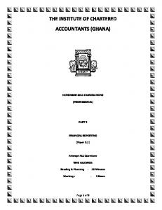 THE INSTITUTE OF CHARTERED ACCOUNTANTS (GHANA)
