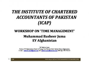 THE INSTITUTE OF CHARTERED ACCOUNTANTS OF PAKISTAN (ICAP)