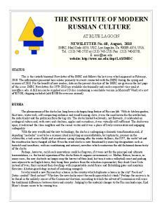 THE INSTITUTE OF MODERN RUSSIAN CULTURE