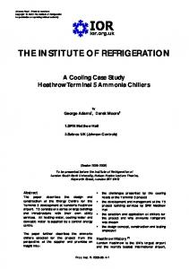 THE INSTITUTE OF REFRIGERATION