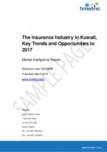 The Insurance Industry in Kuwait, Key Trends and Opportunities to 2017
