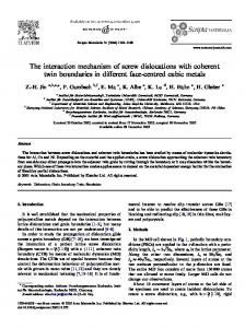 The interaction mechanism of screw dislocations with coherent twin boundaries in different face-centred cubic metals