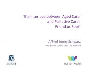 The interface between Aged Care
