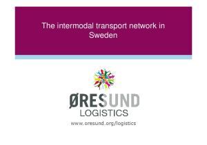 The intermodal transport network in Sweden