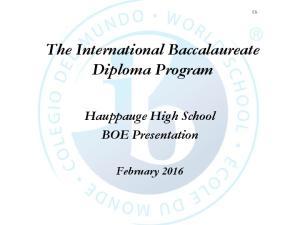 The International Baccalaureate Diploma Program