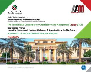 The International Conference on Organization and Management ( ) 2015