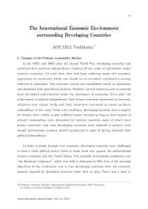 The International Economic Environment surrounding Developing Countries