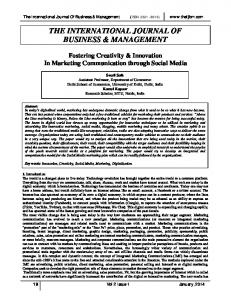 THE INTERNATIONAL JOURNAL OF BUSINESS & MANAGEMENT