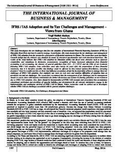 THE INTERNATIONAL JOURNAL OF BUSINESS & MANAGEMENT