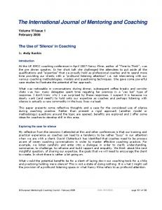 The International Journal of Mentoring and Coaching