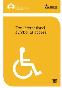 The international symbol of access