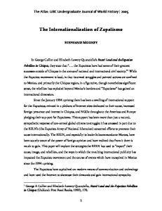 The Internationalization of Zapatismo