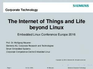 The Internet of Things and Life beyond Linux
