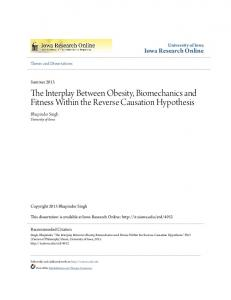 The Interplay Between Obesity, Biomechanics and Fitness Within the Reverse Causation Hypothesis