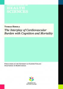 The Interplay of Cardiovascular Burden with Cognition and Mortality